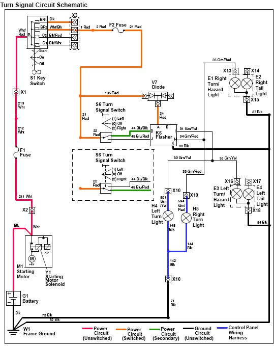 2008 f250 turn signal wiring diagram john deere turn signal wiring schematics 2305 left/right blinker problem - mytractorforum.com - the ...